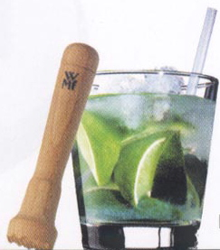 Wodden muddler for making the perfect old fashioned, mojito and other fruit drinks.