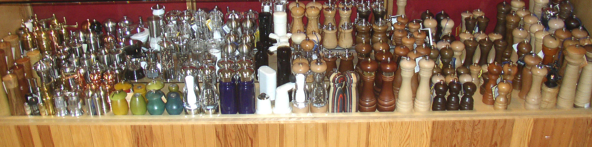 One of the largest selections of quality salt and pepper mills from around the world.